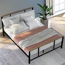 clearance size metal bed frame modern platform bed