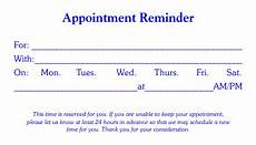 Appointment Reminder Template Word 4 Free Appointment Card Templates Word Excel Pdf Formats