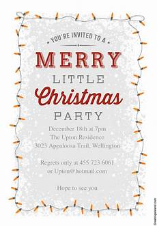Invitation Letter Christmas Party 15 Free Christmas Party Invitations That You Can Print