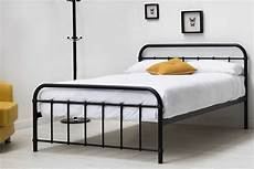 henley hospital style black metal bed frame