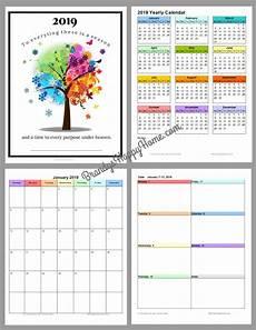 Printable Calendar Planner Free 2019 Diy Calendar Planner Printables