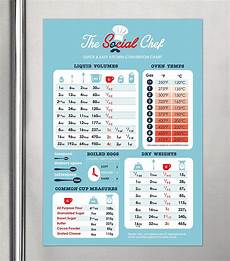 Kitchen Duty Chart The Social Chef Premium Magnetic Kitchen Conversion Chart
