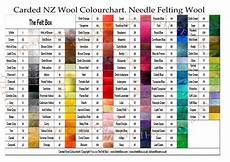 The Color Of Chart Needle Felting Wool Colourchart The Felt Box Needle