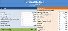 Budget And Expenses Download Personal Budget Excel Template Exceldatapro