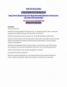 Summary Paragraphs Two Paragraph Summary Writing Effective Summary And