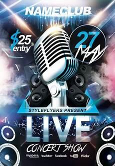 Concert Flyer Psd Live Concert Show Psd Flyer Template 7914 Styleflyers