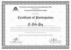 Free Certificates Of Participation Printable Participation Certificate Design Template In Psd