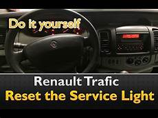 Renault Master Service Light Reset How To Reset The Service Light On Renault Trafic Youtube