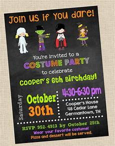 Costume Party Invites Costume Party Invitation Halloween Party By Ohgoodydesigns