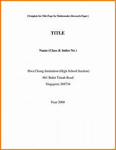 Title Page Examples 7 Title Page For Research Paper Ledger Review