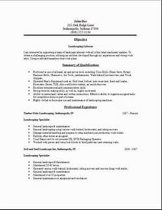 Landscaping Skills Resume Landscaping Resume Occupational Examples Samples Free