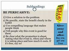 How To Make A Good Leaflet Leaflet Writing Presentation