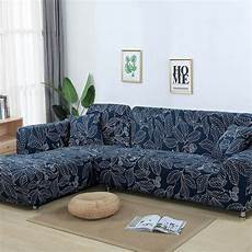 L Shaped Sofa Cover Slipcover 3d Image by L Shaped Sofa Cover Elastic Blue Sofa Covers For Living