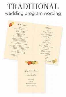 How To Make A Wedding Program How To Word Your Wedding Programs Invitations By Dawn
