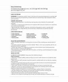 Custodian Job Description Resume Custodian Resume Template 6 Free Word Pdf Documents