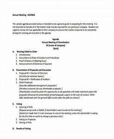 Business Agenda Format 26 Agenda Format Templates Free Amp Premium Templates
