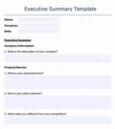 Executive Summary Word Template Free 8 Sample Executive Summary Templates In Pdf Ms