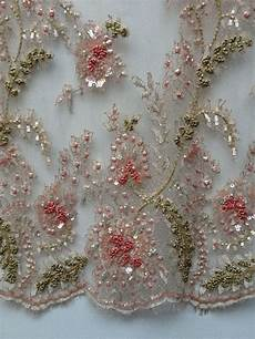 beautiful fabrics and beaded lace on