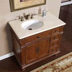 36 inch single sink bathroom vanity with marfil