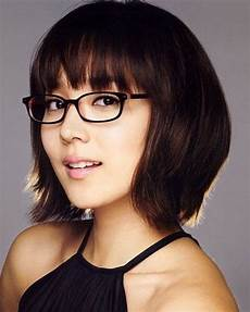 kurzhaarfrisuren rundes gesicht brille hairstyles for with faces and glasses