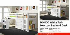 donco white low loft bed and desk review space