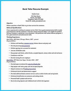 Resume For Bank Teller Position One Of Recommended Banking Resume Examples To Learn