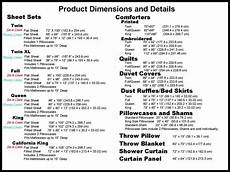 Bed Comforter Size Chart Comforter Mattress And Sheet Size Chart Sewing Easy