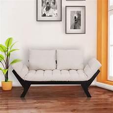 homcom chaise lounger sofa bed white