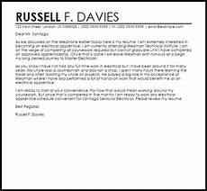 Electrician Apprentice Cover Letters Apprentice Electrician Cover Letter Sample Cover Letter