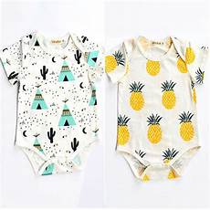 pineapple clothes yr 2016 summer new baby boys clothes pineapple cactus pattern