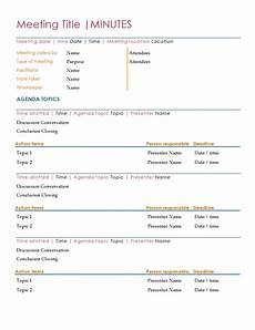 Microsoft Meeting Minutes Template Minutes Office Com