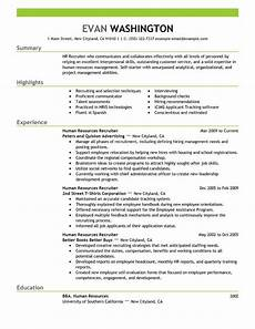 Resume Examples For Jobs With Experience Best Recruiting And Employment Resume Example Livecareer