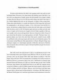 Persuasive Essay On Organ Donation Bel311 Organ Donation As A Social Responsibility