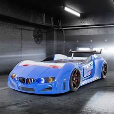 bmw m sport race car bed in blue with spoiler car bed