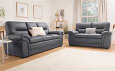 bromley grey leather 3 2 seater sofa set furniture choice