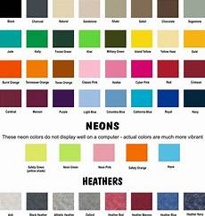 Jerzees Color Chart Color Chart
