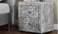 40 velvet and chenille bedside tables groupon