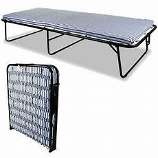 single metal folding guest bed visitor compact fold out w