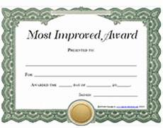 Most Improved Award My Story A S Reflections Blog
