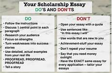 Good Scholarship Essays How Should Students Write Scholarship Essay Wanderglobe