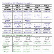 College Class Schedule Template Class Schedule Template 36 Free Word Excel Documents