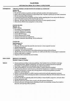 Rn Skills Resumes Clinic Rn Resume Samples Velvet Jobs