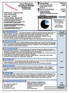 Benefit Statement Benefit Statements Amp Summary Sample 1