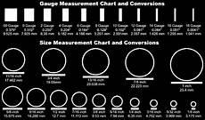 Ear Plug Size Chart Ko839uwav Gauges Size Chart