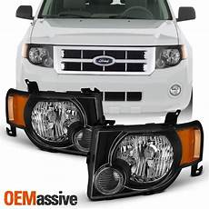 2011 Ford Escape Light Bulb For 2008 2012 Ford Escape Oe Style Black Headlights Lh