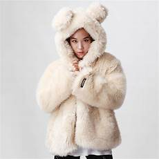 white winter coats cheap winter warm faux fur coat white with rabbit ear