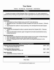 Resume Template For Internal Promotion Internal Promotion Resume Template
