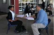 High School Interview Students Practice Interview Skills At Corona Business Expo