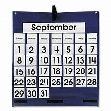 Pocket Chart Cards Carson Dellosa Monthly Calendar 43 Pocket Chart With Day