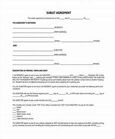 Sublet Agreement Format Free 44 Agreement Forms In Pdf